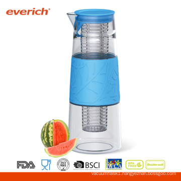 1000ml Everich Borosilicate Glass BPA Free Safe Carrying Water Bottle