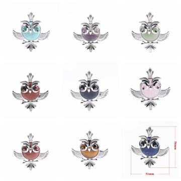 Lucky Owl of Night Collar colgante para mujer y The Night Guardians Suéter largo Cadena Owl Colgante Collar Lovely Animal Pendan