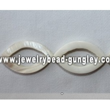 white horse eye shape freshwater shell beads