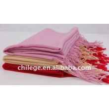 écharpes en laine unie