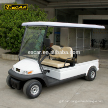 EXCAR stainless steel Electric food carts for sale,golf cart With Cargo