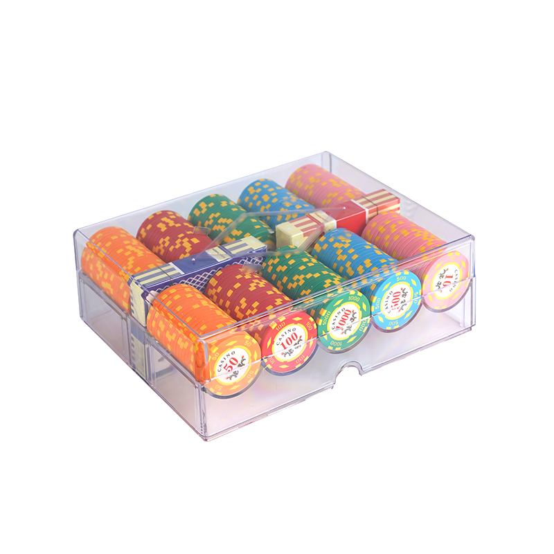 200pcs Acrylic Transparent Poker Chip Tray