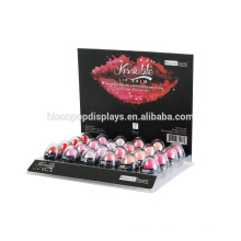 24 Lippenstift Make-up Kosmetik Stand Display Rack Organizer Acryl Großhandel Lip Gloss Display Fall