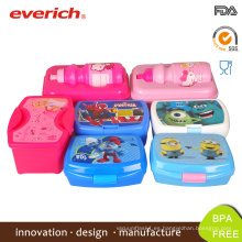 Everich ecológico personalizado BPA libre de plástico caja de Bento