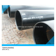 Tubería de acero al carbono soldada con autógena ERW de tubería API 5L