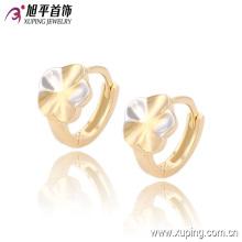 Mais recente moda extravagante dois pedra brinco de argola de jóias flor multicolor para mulheres - 90700