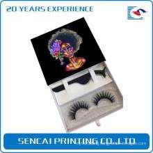 Custom black paper lashes gift packaging box