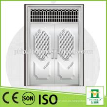 Venta caliente de alta calidad de lujo de diseño de acero inoxidable puerta principal