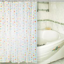 Rideau de douche de conception de tissu d'impression sans crochet PEVA