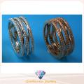 Joyería de la manera de la venta entera de la joyería anillo de piedra de la fila de tres filas anillo de la joyería de la plata esterlina 925 R10498
