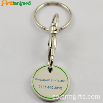 Trolley Coin Key Chain med präglad logo