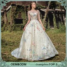 Kundengebundene neue indische Hochzeitskleidentwurfs-Kurzschlusshülse pakistanische Brautkleider bunte wulstige Brautkleid-Hochzeitskleid