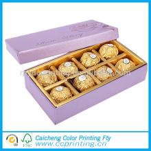 2016 emballage de luxe boîte de barre de chocolat en carton