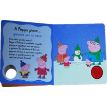 Livro de capa dura para livro de histórias de desenhos animados personalizado para crianças, crianças