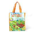 Qualified factory supply packaging tote shopping glossy laminated pp woven bag