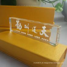 Qualidade Home Decoração 3D Paperweight De Cristal De Cristal