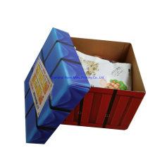 Custom Folding Corrugated Carton Snack Paper Packaging Parcel Drop Box