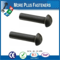 Made in Taiwan High Quality Metal Nut Black Solid Rivet