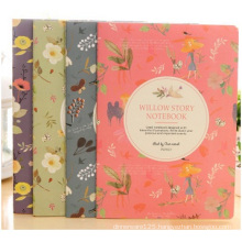 Plastic Set Fashion Notepad, Printed Flower Cover Notebook for Gift