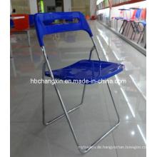 Heißer Verkauf neue Design hochwertige Kunststoff Klappstuhl