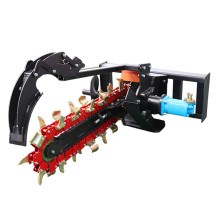 New Design Excavator Mini Skid Steer Loader Attachments Chain Trencher Used for Ditching Farm Land