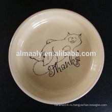 Привлекательная керамическая чаша для домашних животных