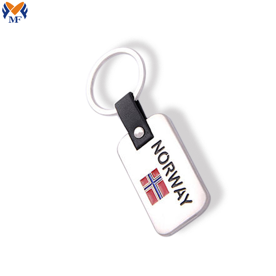 Metal Norway Keychain