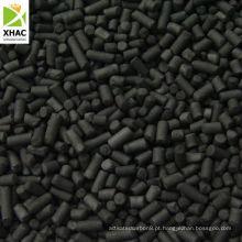 Carvão antracite Carvão ativado a base de carvão cilíndrico de 3,0 mm de baixa cinza para recuperação de solventes
