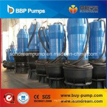 Pompe d'égout submersible à débit axial et à flux mixte pour l'irrigation