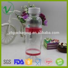 Защитный колпачок ПЭТ круглый пустой прозрачный 330 мл пластиковый сок