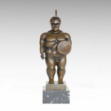 Soldados Abstracto Estatua Grasa Guerrero Escultura De Bronce TPE-1001