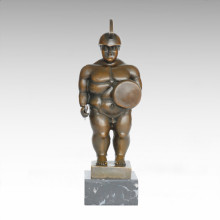 Soldiers Abstract Statue Fat Warrior Bronze Sculpture TPE-1001