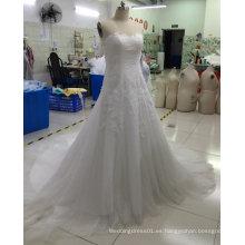 Vestido de boda nupcial de la muestra verdadera a estrenar de Aoliweiya con el cordón
