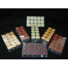 Personalisierte Teelichtkerze aus Paraffinwachs