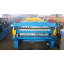 Reka bentuk Double Layer Roof Tile Roll Forming Machine