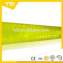 verde amarelo fluorescente, folha reflexiva prismática de alta intensidade