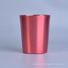 Cylinder Brass Metal Candle Jar, Metal Jar for Candles