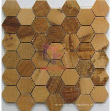 Wooden Yellow Marble Mosaic (CFS1048)