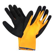 Hi-Vis Orange Gloves Foam Latex Coated Safety Work Glove