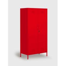 Roupeiros de armazenamento de pé de metal vermelho para venda