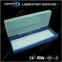 Caixa de slides de vidro para microscópio