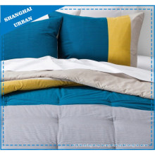 Color Shade & Stripe Printed Polyester Quilt Cover Set
