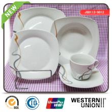 Forma cuadrada Dinnerset de cerámica en 30PCS