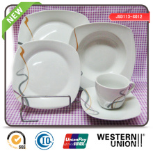 Quadratische Form Keramik Dinnerset in 30PCS