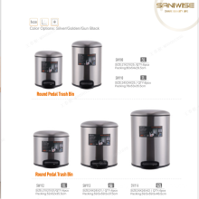 5L/6L/7L/8L/12L stainless steel Foot Pedal bin for kitchen household trash can garbage cans square built in kitchen waste bins
