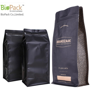 Hersluitbare Flap Bottom Coffee Bean-verpakkingszak