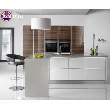 Muebles de cocina modernos con bandas de borde (brillante)