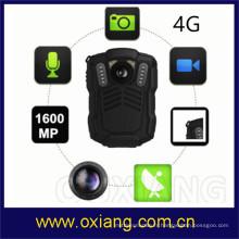 4G 3G WiFi GPS GPS imperméable à l'eau HD 1080P corps de police vidéo caméra usée