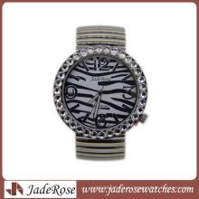Зебра узор мода Кварцевые наручные часы для дам