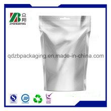 Обычная печатная обычная алюминиевая фольга Zip Lock Bag